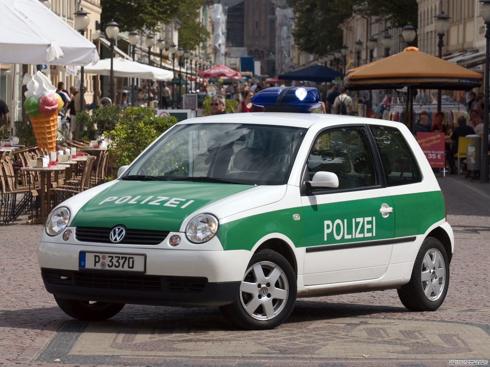 vw lupo 1 4 16v polizei potsdam 2002 police cars. Black Bedroom Furniture Sets. Home Design Ideas