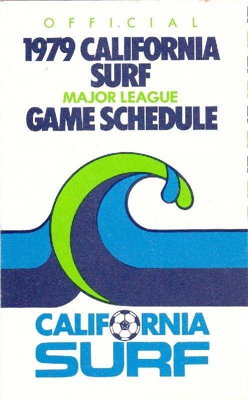 Details About 1979 California Surf Soccer Pocket Schedule Surfear Surf Surf Mar