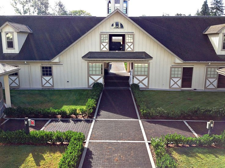 Exterior Barn Views Lucas Equine Rubber Pavers For Walkways