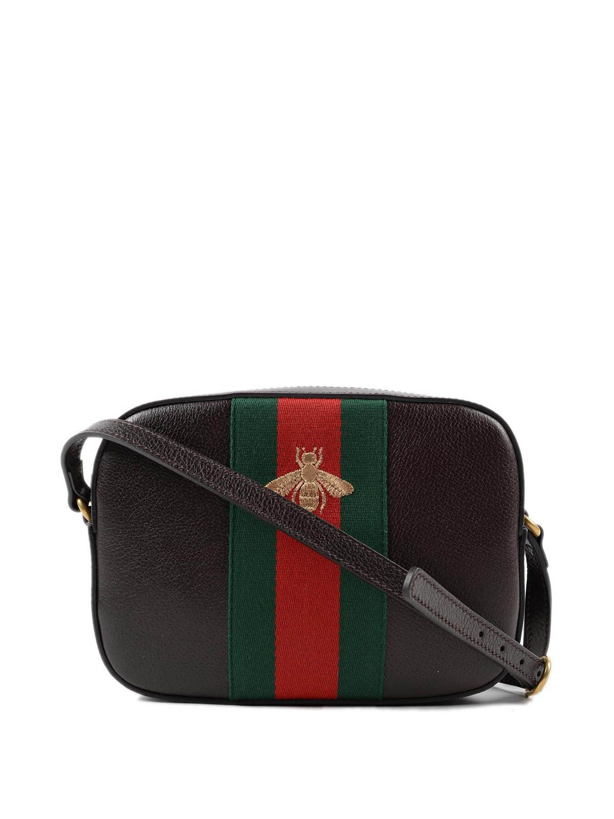6e5bffaac81a2 Gucci: cross body bags - Bee embroidery leather mini bag   a/w in ...