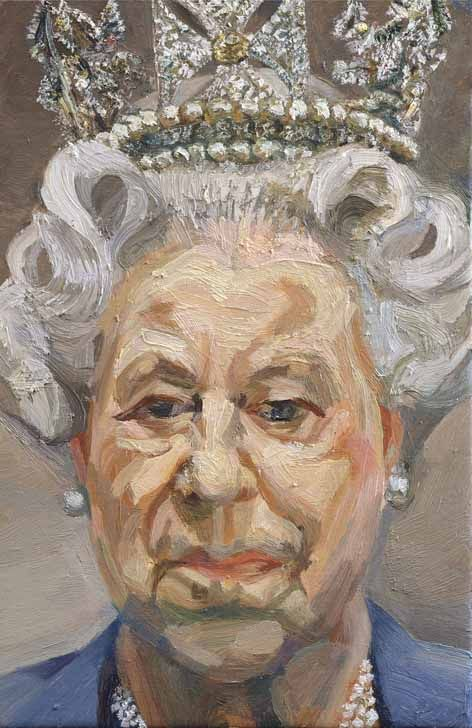 Queen Elizabeth II ( 2001 ) by Lucien Freud: his contraversial portrait of the Monarch