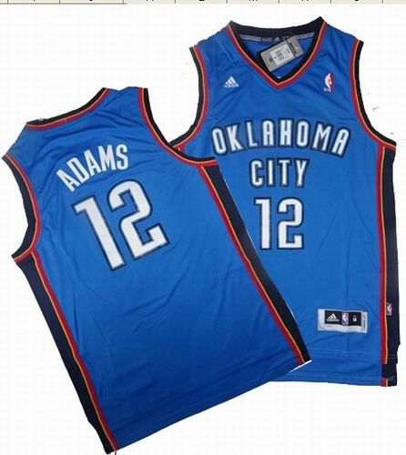 new style 25d3f 9b4b0 Oklahoma City Thunder 12# Steven Adams Swingman blue Jersey ...