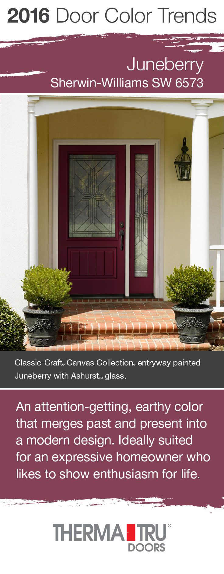 Juneberry By Sherwin Williams One Of The Front Door Color Trends For 2016