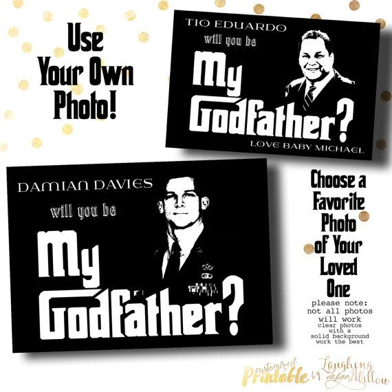 9245e7321ea22 Godfather Card Will You Be My Godfather by LaughingWillowDesign ...