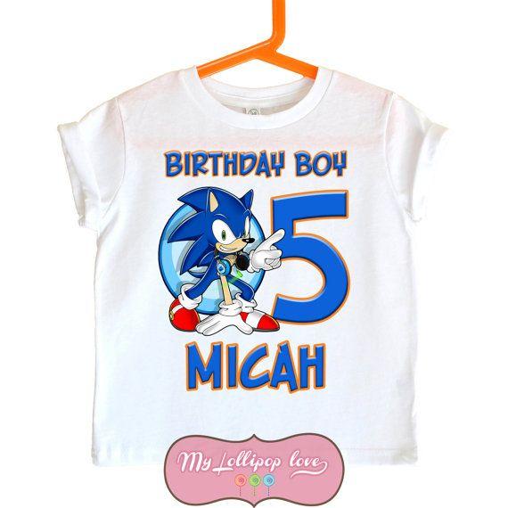 Sonic The Hedgehog Birthday Shirt