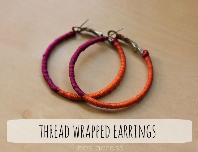 Makeover Your Old Hoop Earrings With Embroidery Thread So Easy