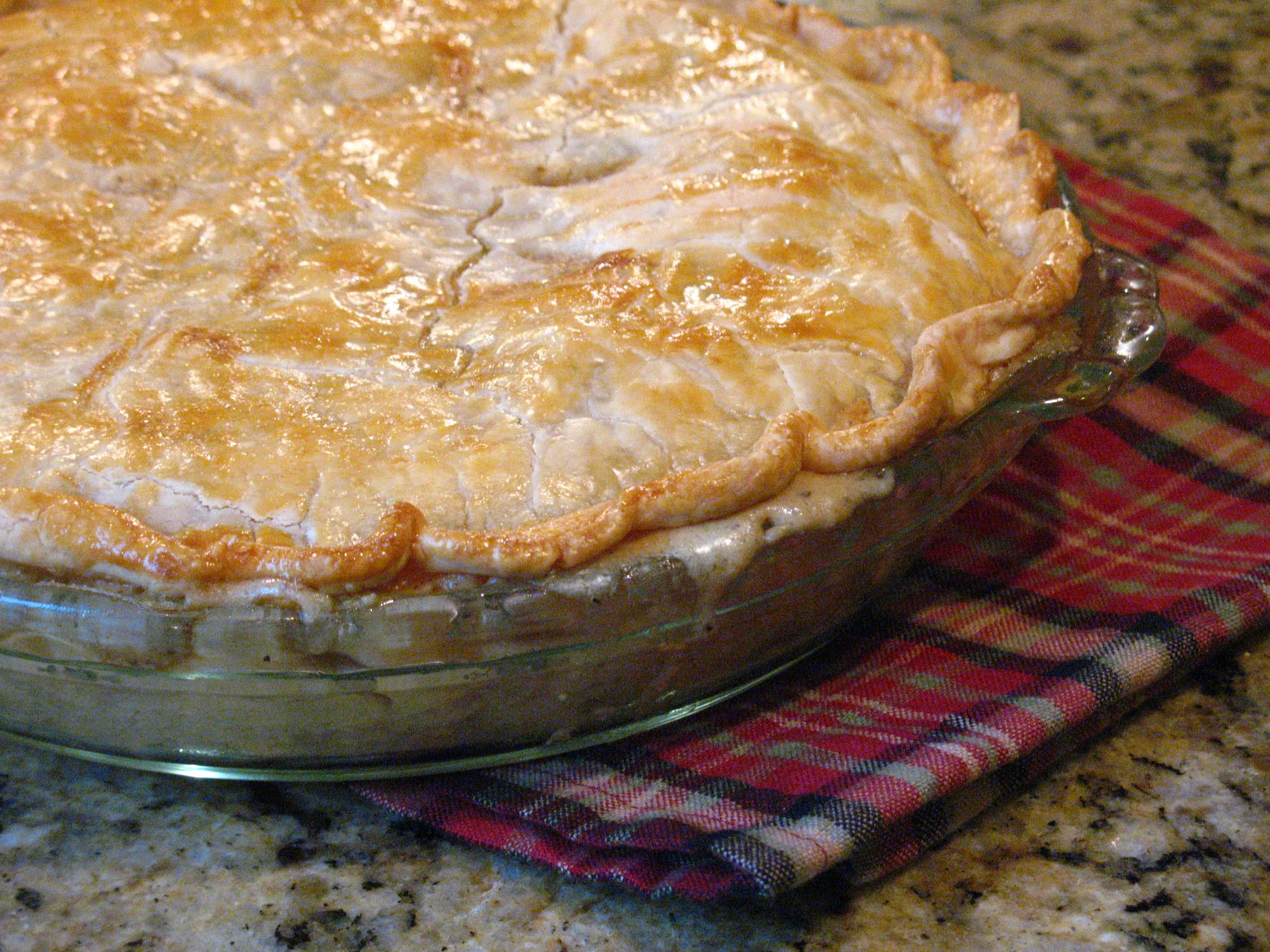 Homemade Chicken Pot Pie. This is a GREAT recipe. Yum.