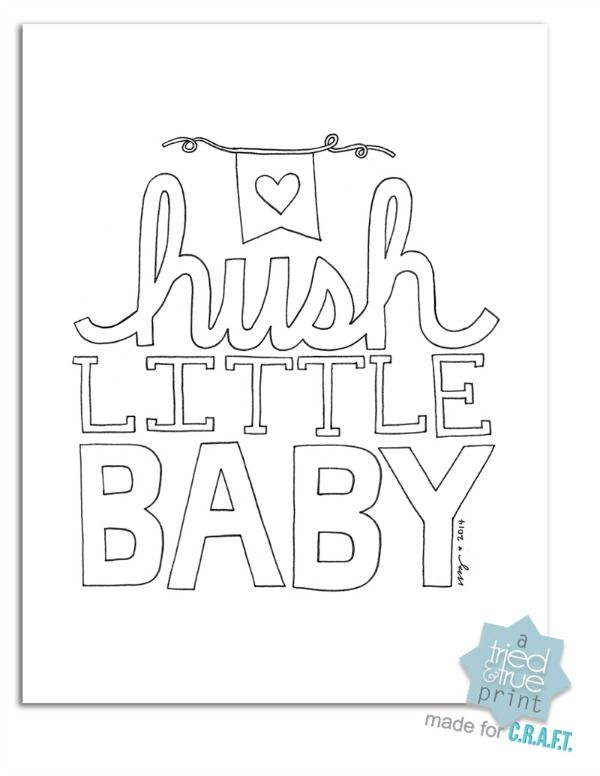 Free Nursery Printables Hush Little Baby