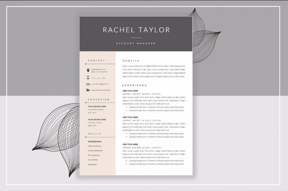 25+ Professional Resume Templates PSD,Word,Indesign,DOC