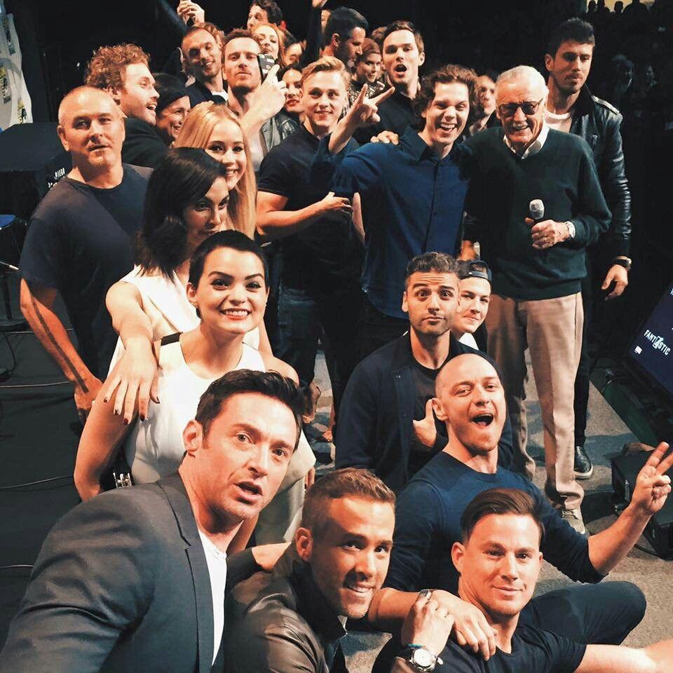 Stan Lee His Marvel Cast X Man Cast Marvel X Men