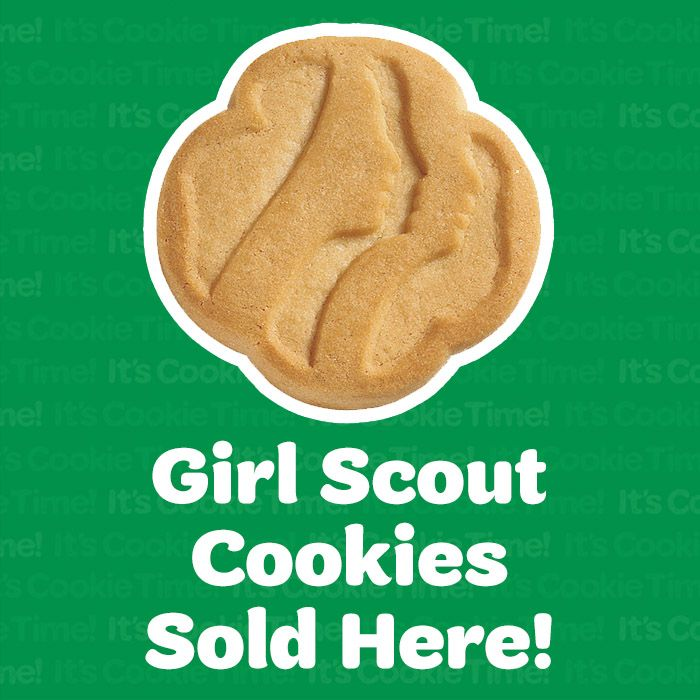 image Two girl scouts let me get at their cookies