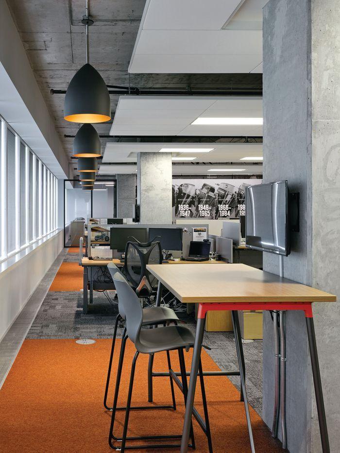 Office Tour: Harley-Davidson Canada Offices – Vaughan,  #canada #HarleyDavidson #industrialofficespaceopenplan #Office #Offices #Tour #Vaughan