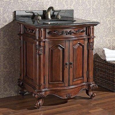 Avanity Provence 24 Antique Single Sink Bathroom Vanity V24 Ac At Bathroomvanities