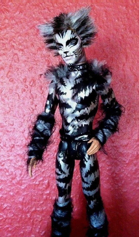 Painted Munkastrap doll CATSMusical Cat doll, Jellicle