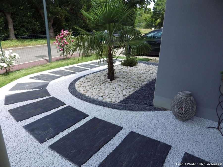 Pas pas cr er une all e graphique all e bordure et for Allee de jardin moderne