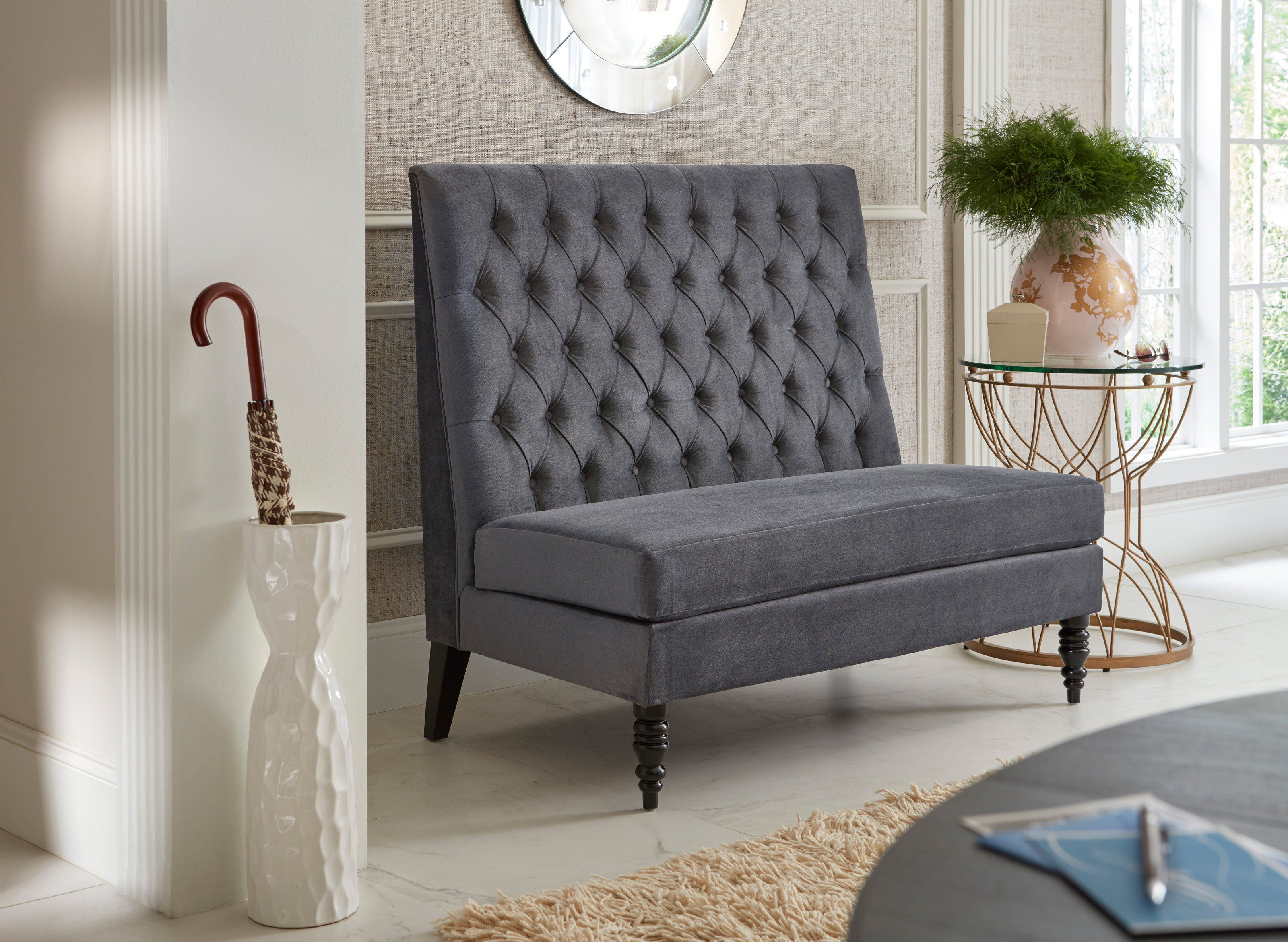 small color pictures settee curved including for trends large brilliant outstanding white paint table room wall regard apartment with dining new sofa round