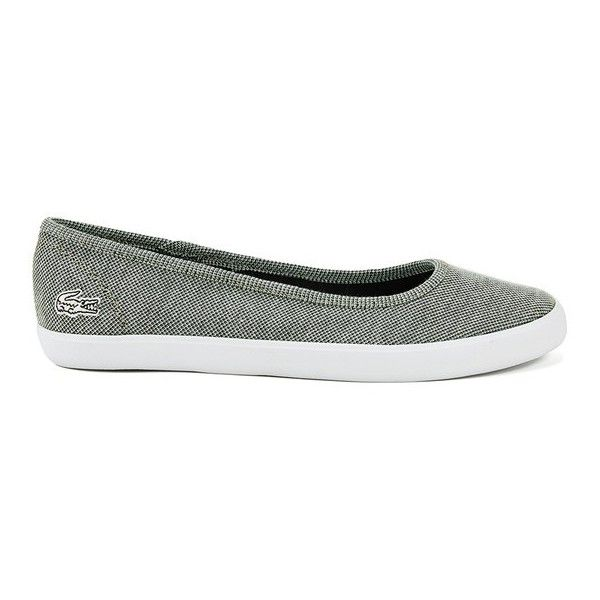 new release arriving hot sale online Lacoste Women's Marthe CRM Textile Ballet Flats (£47) ❤ liked on ...