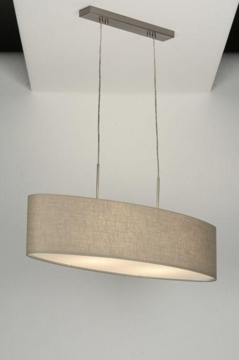 Pin onze mooie grote stoffen taupe kap hanglamp of zie onze website ...