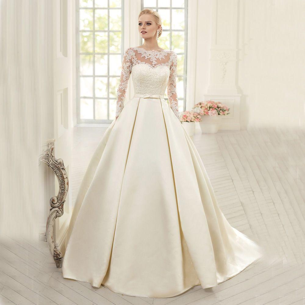 Wedding dress. | THE BEST WEDDING DRESSES... | Pinterest | Illusion ...