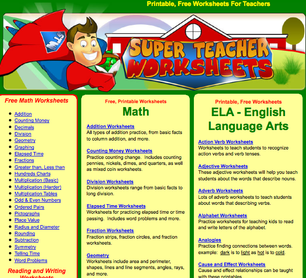 Awesome website for free download sheets | Classroom Ideas ...