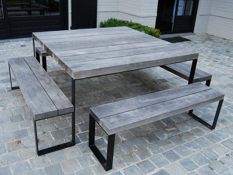 Quadratischer Gartentisch Aus Holz Double G Quadratischer Tisch