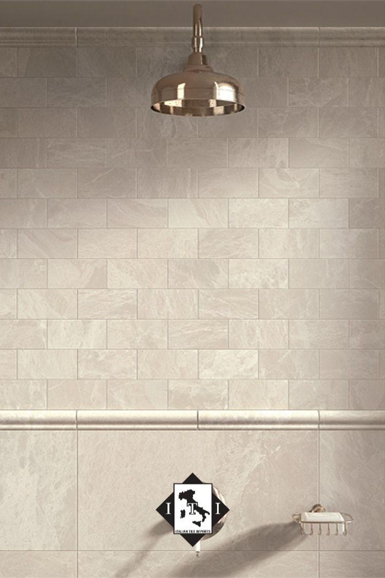 12x24 Tile Installed Horizontal Brick Pattern Rain Head Tile Bathroom Brick Patterns 12x24 Tile