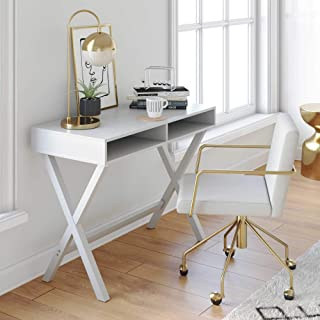 Amazon Com Small Computer Desk 50 To 100 4 Stars Up Home Kitchen White Computer Desk Home Office Computer Desk White Writing Desk