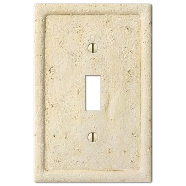 Ivory Stone Cover Plates Plates On Wall Beige Stone Faux Stone Walls