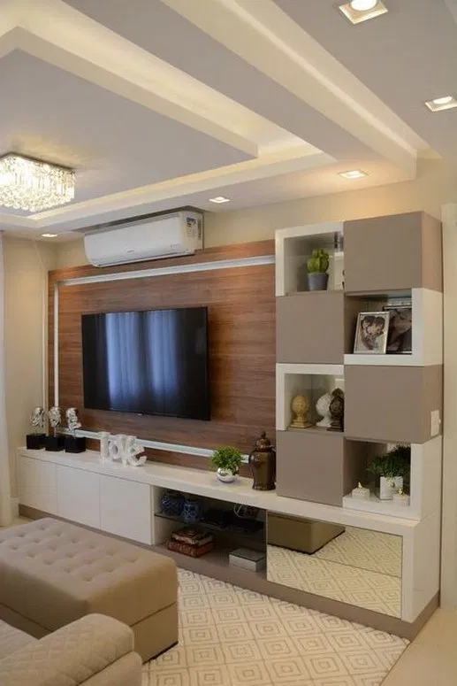 Mr Lalit Sharma S Residence In Kharghar Minimalist Living: 79 Adorable Tv Wall Decor Ideas 14 Nel 2020
