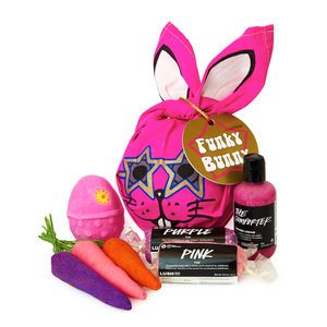 Funky bunny lush want list cosmetic ness pinterest lush funky bunny wrapped gift unwrap this limited edition easter treat to find calming cozy feel good sweets like the exclusive purple fun best selling negle Image collections
