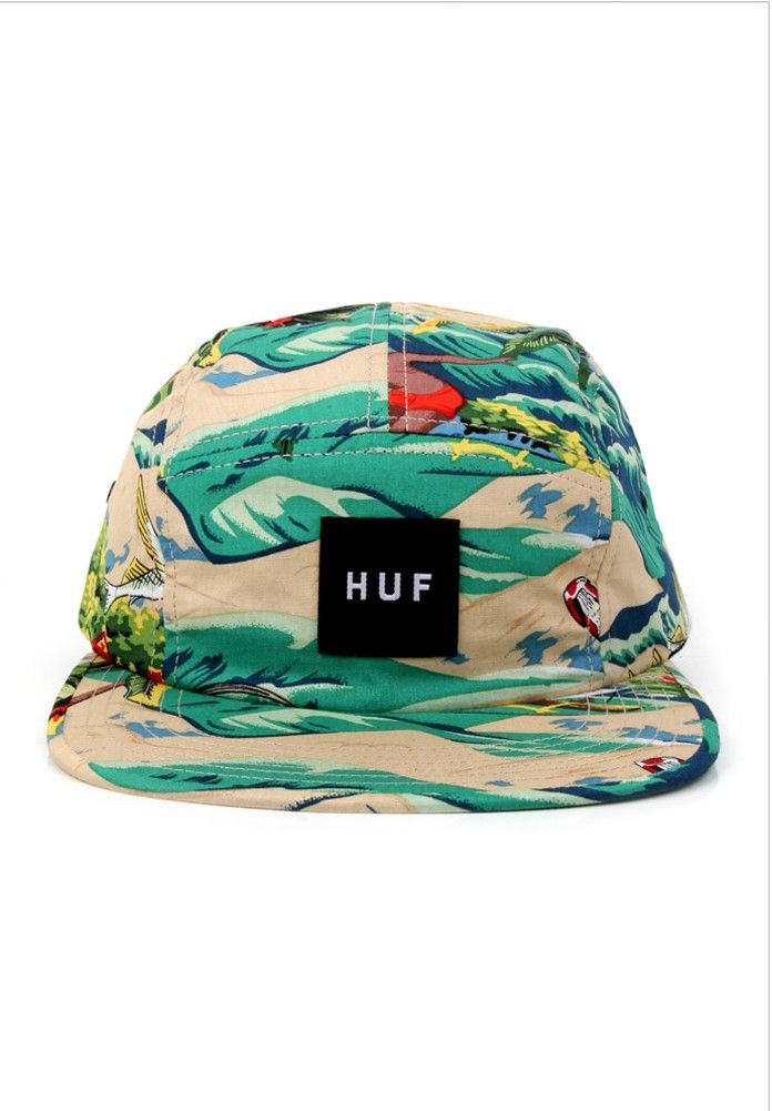 Huf TIE DYE PLANTLIFE VOLLEY Black 5 Panel Cap Adjustable Men/'s Hat