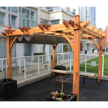 Breeze Pergola With Retractable Canopy From Costco