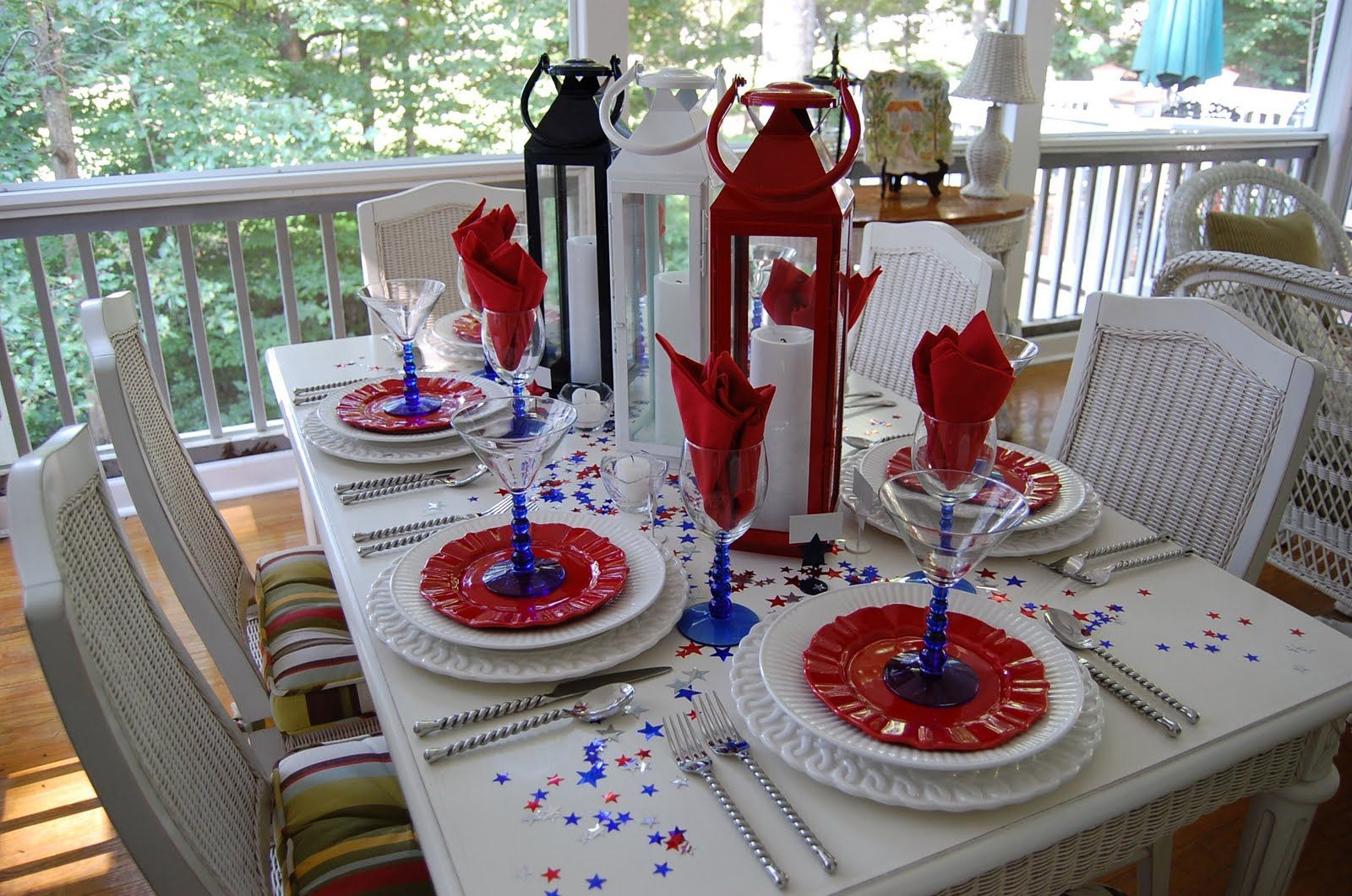 Tablescape for the 4th of July | Holiday tablescape, Holidays and ...
