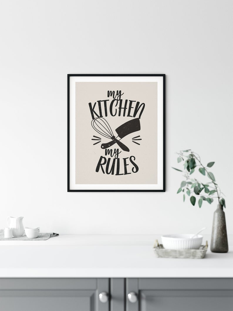 Poster My Kitchen My Rules Als Sofort Download Vintage Look Kunst Zum Ausdrucken Spruche Fur Die Kuche Typografie Poster Kuchenposter In 2020 Typografie Poster Kuchenposter Ausdrucken