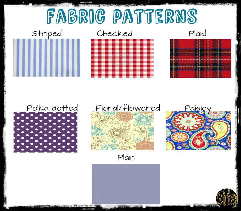 fabric patterns esl efl english clothing pinterest english learning english and visual. Black Bedroom Furniture Sets. Home Design Ideas