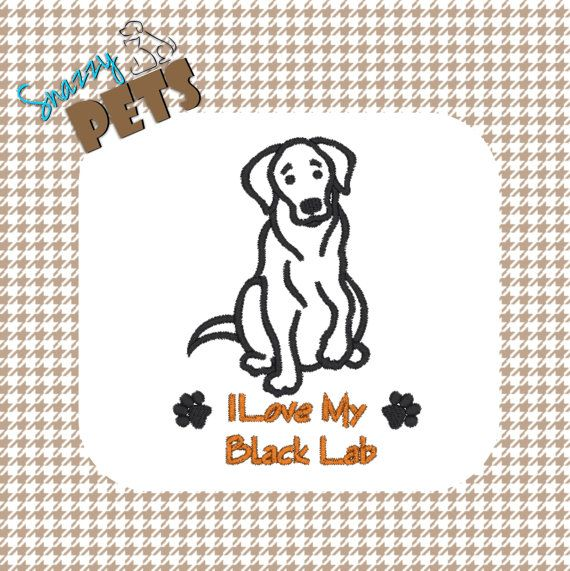 #BlackLab #Labrador I Love My Black Lab embroidered on by SnazzyPets, $25.00