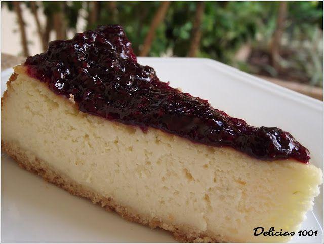 Cheesecake com framboesas