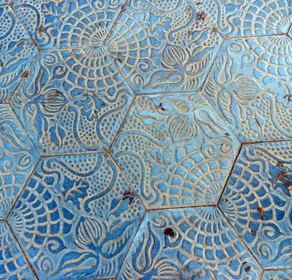 Antoni Gaudi Floor Tiles Barcelona 1 with seamless