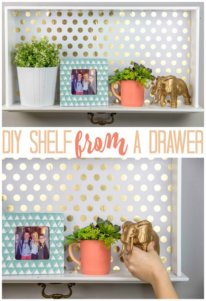 How to turn an old Dresser Drawer into an AWESOME Wall Shelf