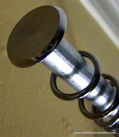 Middle Class Modern A Nice Strong Rod Diy Curtain Hanging Diy
