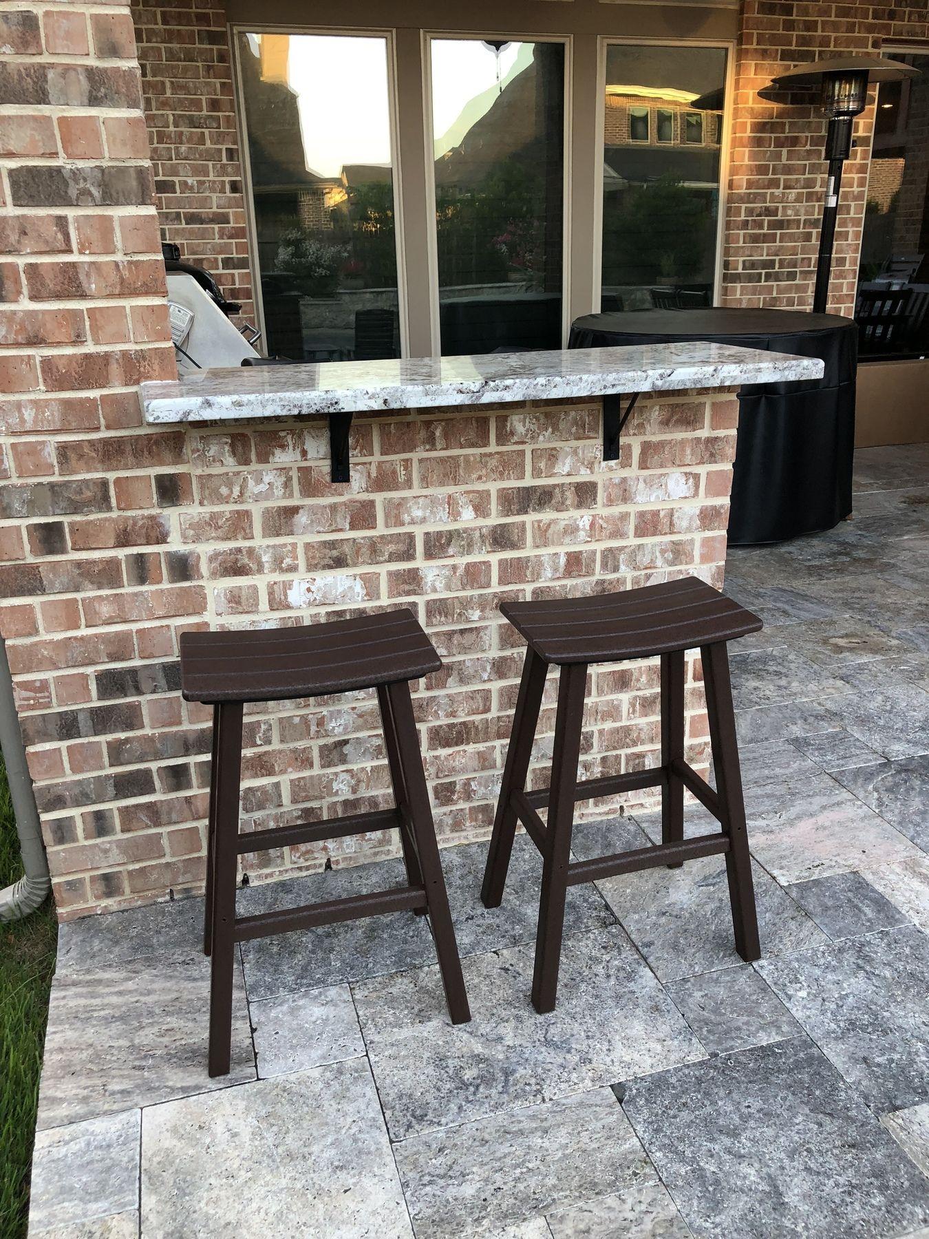 Traditional 30 Saddle Bar Stool Bar Stools Brown Outdoor Furniture Tall Bar Stools