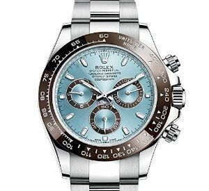 #Rolex Cosmograph Daytona Ice Blue Dial #Platinum Mens ...