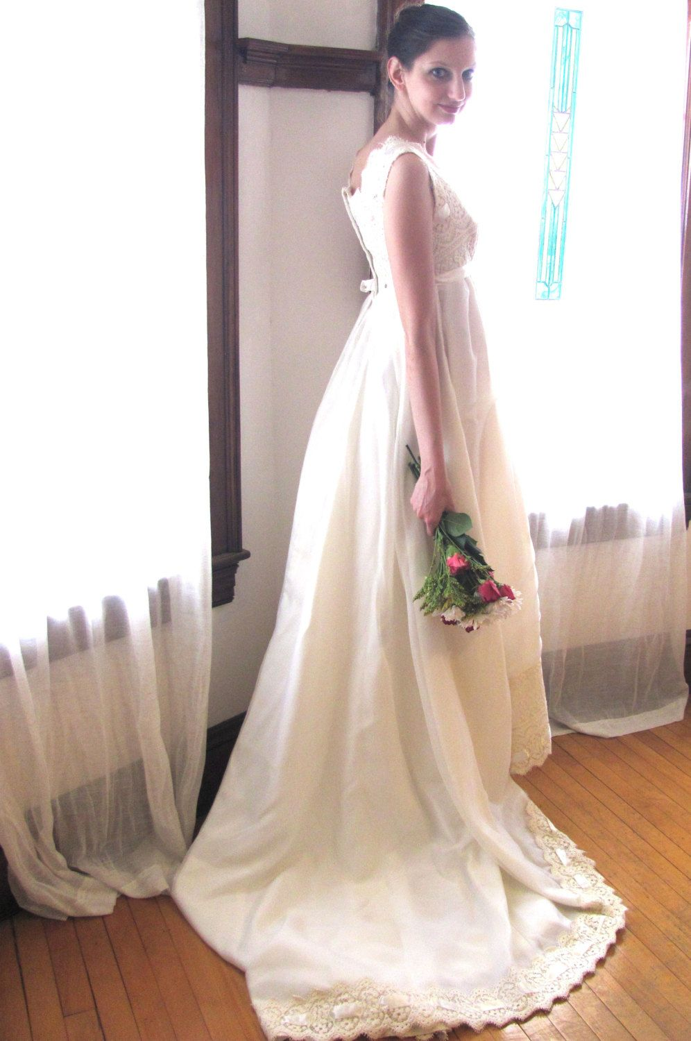 Handmade crocheted wedding gowns vintage crochet dresses for