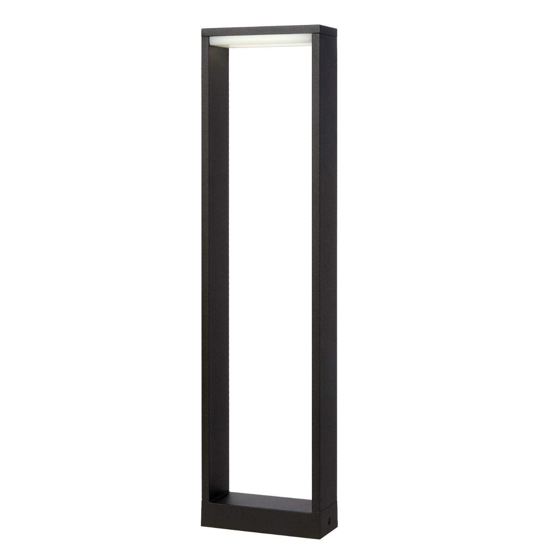 borne d 39 ext rieur compos e d 39 une structure rectangulaire ajour e en aluminium finition noir. Black Bedroom Furniture Sets. Home Design Ideas