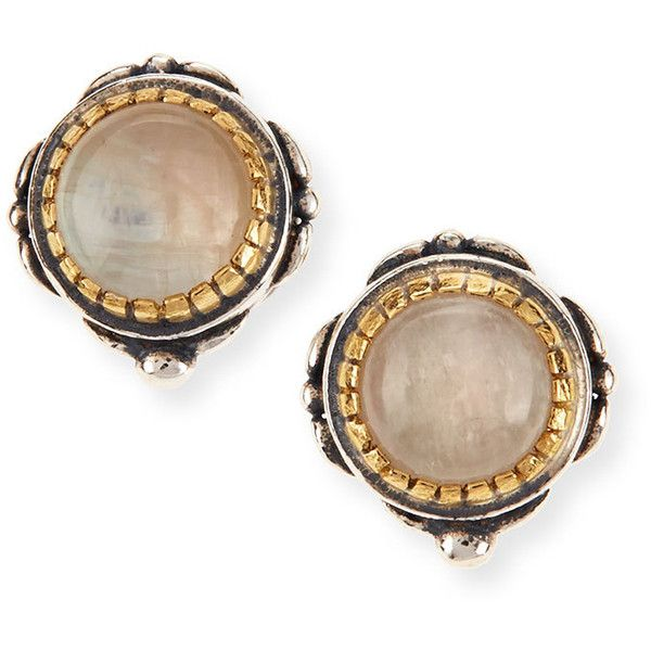 Konstantino Erato Labradorite Stud Earrings (596 CAD) ❤ liked on Polyvore featuring jewelry, earrings, labradorite, stud earrings, konstantino jewelry, handcrafted jewellery, hand crafted jewelry and white jewelry