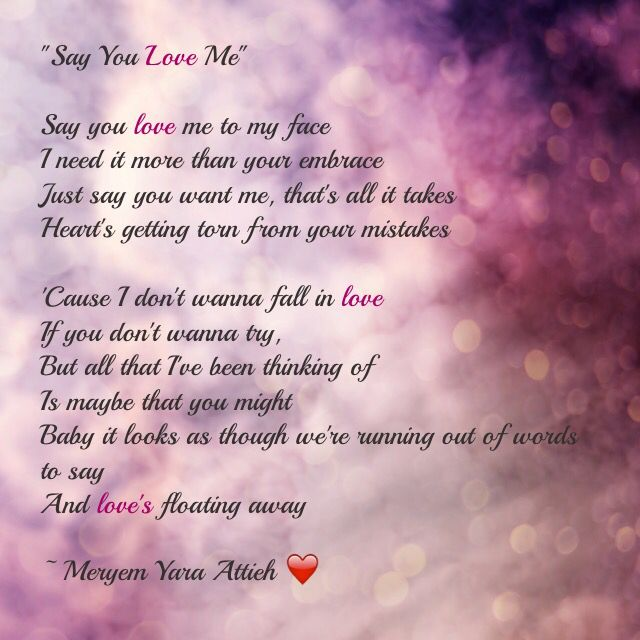 say you love me song lyrics