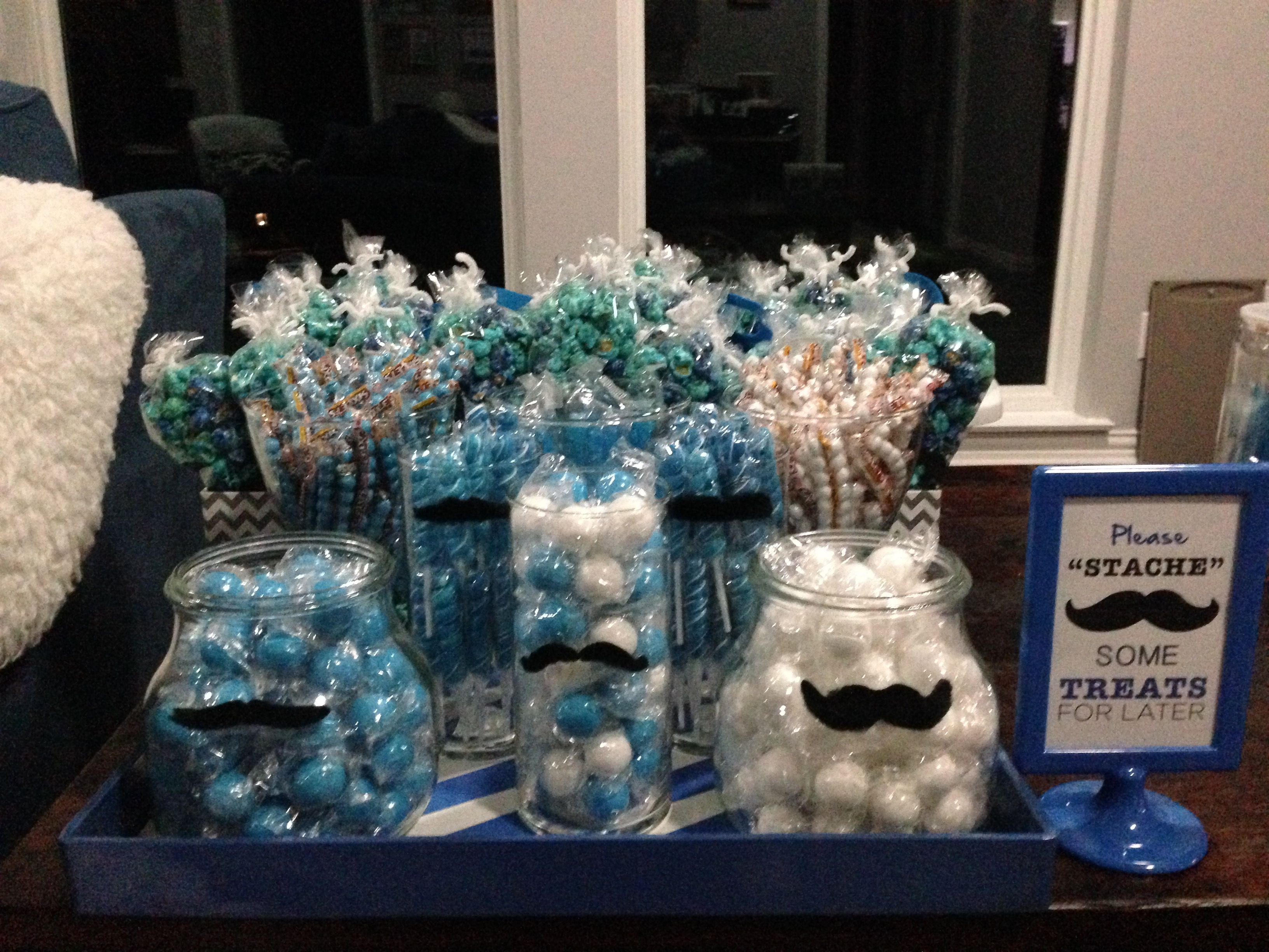 Little Man Mustache & Bow Tie Bash Candy for the Buffet Table