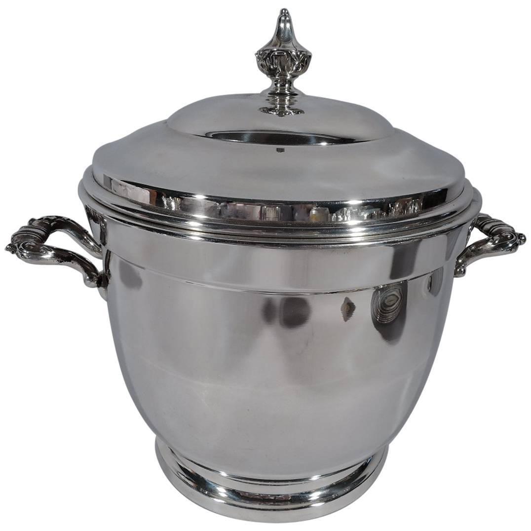 American Modern Sterling Silver Ice Bucket