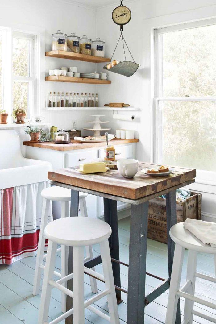 1001 ideas para organizar las cocinas peque as estantes for Estantes cocinas pequenas