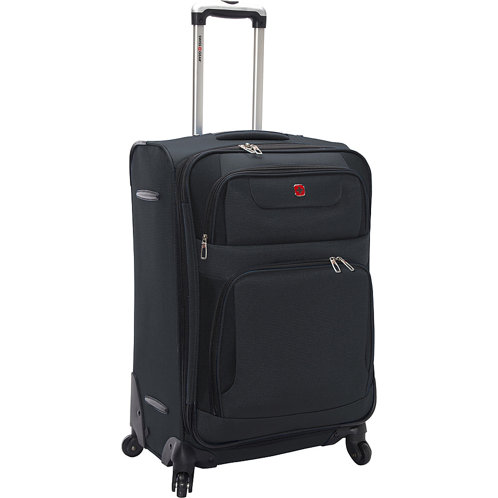 """7297 24"""" Expandable Spinner Suitcase, Travel, Teal"""